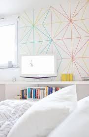 Colourful washi tape wall decor ideas