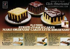 Jell o Pudding Stripe It Rich cakes 1982 Americana