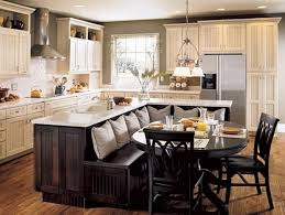 Contemporary Small Kitchen Island Designs With Wooden Floor And