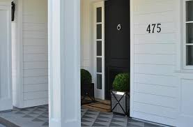 black front doorClassic Home Entrance Features Black Front Door With Mirrored