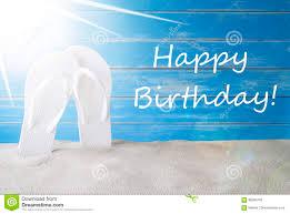 Sunny Summer Background Text Happy Birthday Stock Image