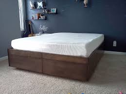 picture of platform bed with drawers