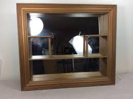 vintage wall shelf mirror curio