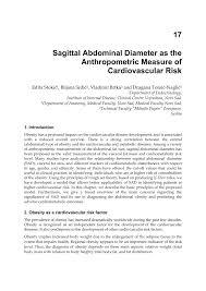 Pdf Sagittal Abdominal Diameter As The Anthropometric
