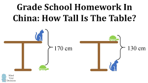 Homework From China How Tall Is The Table