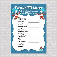 Famous Mothers Baby Shower Game ImagesFamous Mothers Baby Shower Game