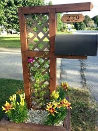 mailbox post ideas. Mailbox Post Ideas Best About Landscaping  On .