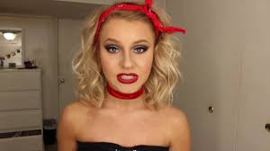 glam sandy from grease makeup by jenna