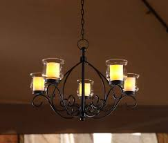 outdoor hanging candle chandelier gazebo backyard patio votive light from candle holders for outside