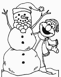 Small Picture Winter Coloring Pages Printable Printable Snowman Coloring Pages
