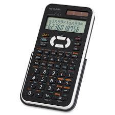 calc sharp el 506xbwh scientific calculator