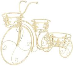 vidaXL <b>Plant Stand Bicycle Shape</b> Vintage Style Metal Garden ...