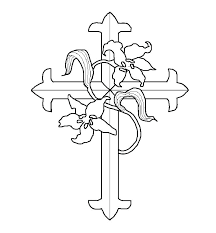 Cross Coloring Pictures Free Printable Cross Coloring Pages Jesus