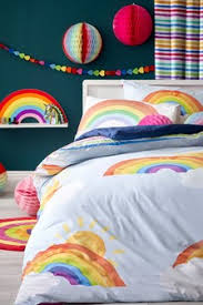 Next childrens bedroom furniture Amelia Bright Rainbow Duvet Cover And Pillowcase Set Next Uk Childrens Bedding Childrens Beds Bed Sets Pillows Next