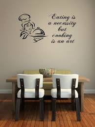 jc design eating is a necessity but cooking is an art kitchen dining room restaurant wall decor