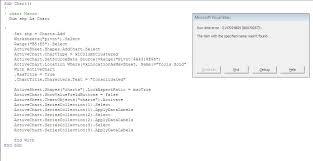 Excel Vba Creating Chart Error Stack Overflow