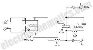 diy solid state relay diy solid state relay circuit schematic