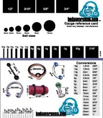 ear gauging chart actual size ear stretching size chart after 1 inch