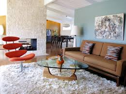 Shaggy Rugs For Living Room Decor Tips Living Room With Mid Century Modern Decor And Coffee