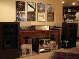 sound system with turntable. marantz 2330b receiver, thorens td-165 turntable, td-126 frazier model seven speakers, and akai gx-266d reel to tape deck. sound system with turntable t