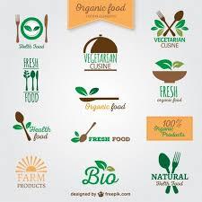 Logos Daliments Biologiques Logos Nourriture Logo Et