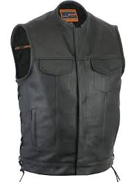 heavy duty leather club vest