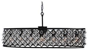 cassiel oval crystal drop chandelier black 30