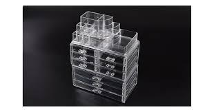 cosmetic 9 drawer makeup organizer storage jewellery box clear acrylic holder kogan