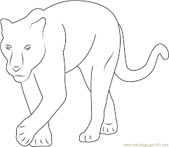 Small Picture Baby Panther Coloring Page Free Panther Coloring Pages