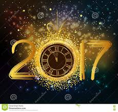 2017 background.  2017 Download 2017 Happy New Year Background With Gold Clock Stock Vector   Illustration Of Glow N