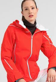 Womens Designer Ski Wear Sale Spyder Syncere Ski Jacket Orange Women Ski Snowboard