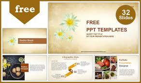 Ppt Flowers Abstract White Flowers Powerpoint Template