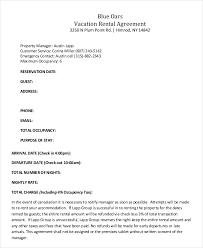 Best Holiday Home Rental Agreement Template Image Collection