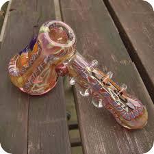 dusky rose glass bubbler
