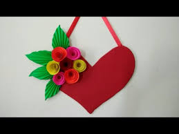 diy heart wall hangings with paper