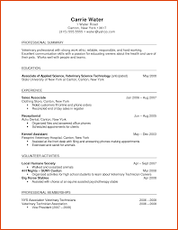 Veterinary Technician Sample Resume Haadyaooverbayresort Com