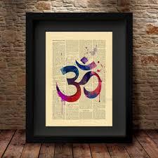 yoga om symbol yoga art print yoga artwork om symbol yoga ar on om symbol wall art with shop om symbol wall art on wanelo