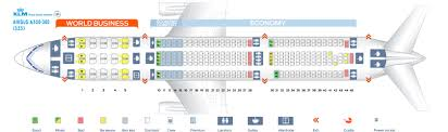 Airbus A330 Seating Chart Seat Map Airbus A330 300 Klm Best Seats In The Plane