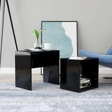 coffee table set high gloss black