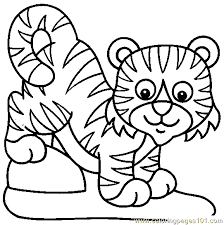 Small Picture Tiger Coloring Pages To Print Coloring Coloring Pages