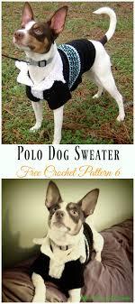 polo sweater dog coat crochet free pattern dog sweater crochet
