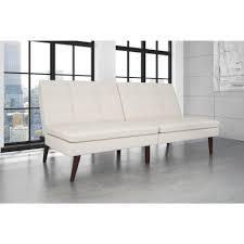 pillow top futon. Unique Futon DHP Wendy White Faux Leather Pillow Top Futon To N