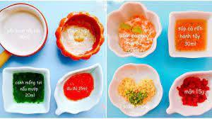 Thực đơn ăn dặm kiểu Nhật cho bé từ 5 đến 8 tháng tuổi đủ dinh dưỡng