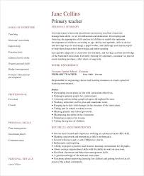 teachers resumes examples teacher resume examples 23 free word pdf documents download
