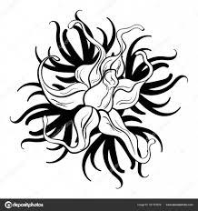 черно белые тату черный и белый цветок тату векторное изображение