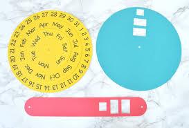 Circle Calendar Template Vikalpah Diy Round Perpetual Calendar With Free Printable