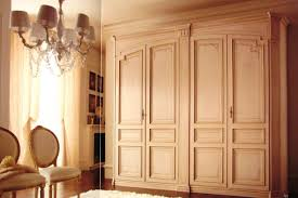 Wooden Wardrobe Door Designs Classic Wardrobe With 4 Doors Lacquered With Decorations