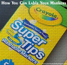 Crayola Supertips 50 Color Chart Plannerybutterfly How I Label My Crayola Supertips Marker