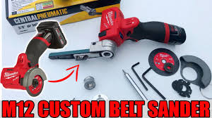 The best belt sander has plenty of power and will work and sand your woodwork without you having has an integrated vacuum adapter. Milwaukee M12 Cut Off Tool Customized Into A Belt Sander Custom Conversion Youtube