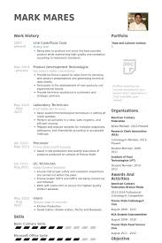 Line Cook Resume Samples  Visualcv Resume Samples Database within Cook  Resume Template